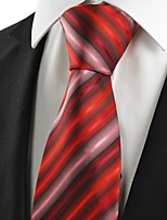 Striped Pink Scarlet JACQUARD Men's Tie Necktie Wedding Party Holiday Gift #1045