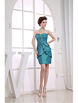 Cocktail Party Dress-Jade Sheath/Column Sweetheart Short/Mini Taffeta