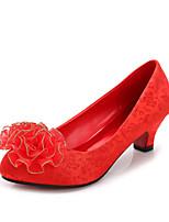 Zapatos de boda-Tacones-Tacones / Punta Redonda / Punta Cerrada-Boda / Vestido-Rojo-Mujer