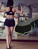 Pantalones de yoga Prendas de abajo / Shorts Transpirable / Secado rápido Cintura Media Alta elasticidad Ropa deportivaAmarillo / Blanco