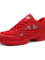 Zapatos Sneakers Tul / Semicuero Negro / Rojo / Blanco Hombre