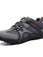 Scarpe Escursionismo Da uomo Di pelle / Tulle Marrone / Grigio / Arancione