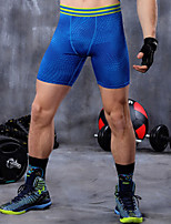 Men's Running Bottoms Yoga /Fitness/Running Breathable/Quick Dry/Limits Bacteria/Sweat-wicking/Compression Gray/Blue