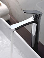Deck Mounted Single Handle Basin Faucet Tall Tap Chrome Finish