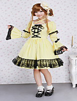 Cotton Yellow Lace Gothic Lolita Dress Halloween Dresses