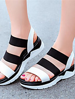 Women's Shoes Flat Heel Open Toe Sandals Dress / Casual Black / White / Beige