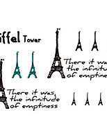 Fashion Temporary Tattoos Sexy Body Art Waterproof Tattoo Stickers Eiffel Tower 5PCS