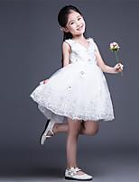 A-line Short/Mini Flower Girl Dress-Tulle Sleeveless