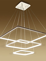 design moderne / 120w a mené la lumière pendentif équerrage / ajustement pour salon, salle à manger, bureau