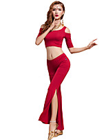 Belly Dance Outfits Women's Training Modal Draped 2 Pieces Fuchsia / Light Purple / Orange / Burgundy