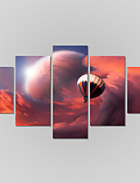 Canvas Set Of 5 Modern Print Sky Scenery Painting On The Wall Home Decor