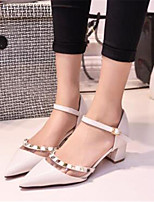 Women's Shoes  Chunky Heel Heels Heels Party & Evening / Dress White / Beige