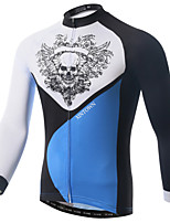 XINTOWN Cool Black Skull Series Cycling Jersey Men's  Cycling Clothing MTB Long Sleeve Bike Jersey