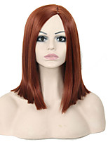 Popular Wigs! Exquisite Medium Length Straight Brown Synthetic Wig