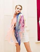 Seaside Beach Towel Sunscreen Shawl Rainbow Color Printing Scarf Scarves