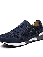 Men's Running Shoes Suede / Tulle Black / Blue / Gray