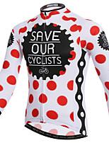 XINTOWN Polka Dots British Style Bike Team Cycling Suits Long Jersey Long Sleeve
