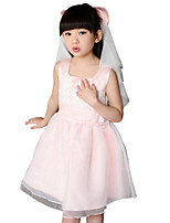 Girl's Pink Dress Rayon Summer