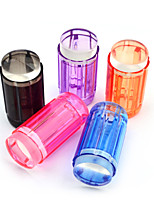 New 1set Candy Color 2.8cm Clear Jelly Silicone Nail Art Stamper Scraper Polish Design Print Stamping Nail Tools