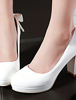 Women's Shoes Chunky Heel/Platform/Round Toe Heels Office & Career/Dress Blue/Pink/White/Beige