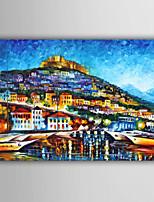 abstrato / paisagem / pessoas / paisagem abstrata pintura a óleo estilo europeu pintadas à mão, lona, um painel