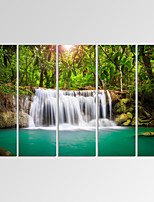 VISUAL STAR®Dreamlike Waterfall Canvas Print Forest Landscape Canvas Art Ready to Hang