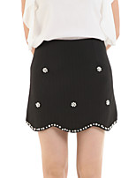Boutique G  Women's Floral Blue / Pink / White / Black Skirts,Cute Above Knee