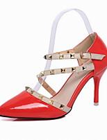Women's Shoes Leatherette Stiletto Heel Heels / Pointed Toe Heels Wedding / Office & Career  / Dress / Casual