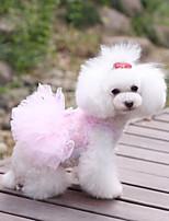 Personality Sweety Stereoscopic Rose Lace Pet Dress
