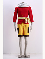 Costumes Cosplay-Natsu Dragneel-Fairy Tail-Top / Shorts / Echarpe / Ceinture