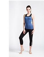 Yoga Pants Fundos Respirável / Secagem Rápida Ajustável Elasticidade Alta Wear Sports Preto Mulheres SMOEDOD Ioga
