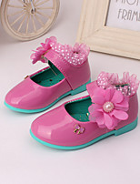 Girls' Shoes Wedding / Party & Evening / Dress Comfort Leather Loafers Black / Pink / Peach