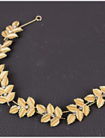 Lady's Baroque Style Gold Leaf Olive Headband  Forehead Hair Jewelry for Wedding Party (Length:28cm)