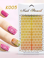 New Nail Art Hollow Stickers Number Shape Fish Scales  Flower Geometric  Design  Nail Beauty  K001-010