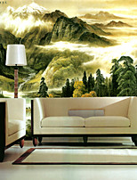Décoration artistique Papier peint Classique Revêtement,Autre A Large Mural Wallpaper Landscape Paintings