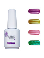 ILuve Gel Nail Polish Set - Pack Of 4 - Long Lasting 3 Weeks Soak Off UV Led Gel Varnish – For Nail Art #4025