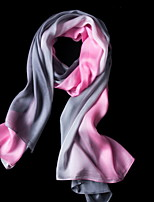 Gradient Color Silk Scarf Scarves Female Autumn And Winter Warm Long Section Shawl (Random Color)