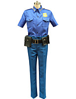 Zootopia Cattle Chief Male Blue Cosplay Cosplay Costumes Top / Pants / Belt / Bag