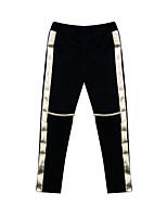 Girl's Black Pants Cotton All Seasons