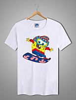 Cotton Lycra Men's Sponge Bob Square Pant T-shirt 1Pc
