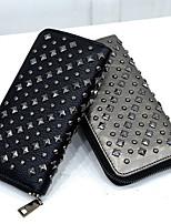 Bi-fold (due scomparti)-Pochette / Portafoglio / Porta carte di credito-Donna-PU-Dorato / Nero