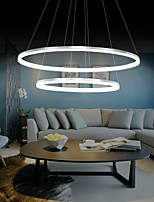Modern Design Pendant Lights/45W High Quality LED Acrylic Double Ring/Fit for Living Room, Dining Room,Study Room/Office