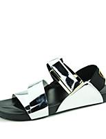 Sapatos Masculinos-Sandálias-Preto / Branco / Prateado / Dourado-Courino-Ar-Livre / Casual / Para Esporte