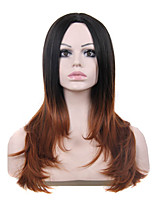 Capless Multi-Color Long Length High Quality Natural Straight Hair Synthetic Wig