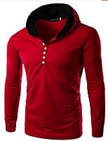 Men's Long Sleeve Hoodie & Sweatshirt,Rayon Solid