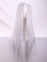 Europe And The United States New Silver Ms Points in  Long Straight Hair Wigs