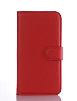 Для Кейс для LG Бумажник для карт / Кошелек / со стендом / Флип Кейс для Чехол Кейс для Один цвет Твердый Искусственная кожа LG