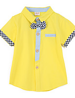 Girl's Blue / Yellow Clothing Set Cotton Summer