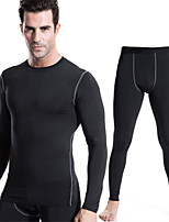 Men's Sports Training PRO Compression Tights Sport Suits Quick-drying Clothes (Long sleeve + Long pants)