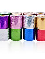1roll Transfer Foil Nail Art 6cmX120m Star Design Gold Silver Polish Nail Tips Decals,DIY Stylish Nail Art Decorations